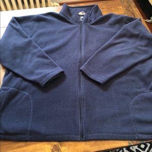 Blue fleece zip up jacket